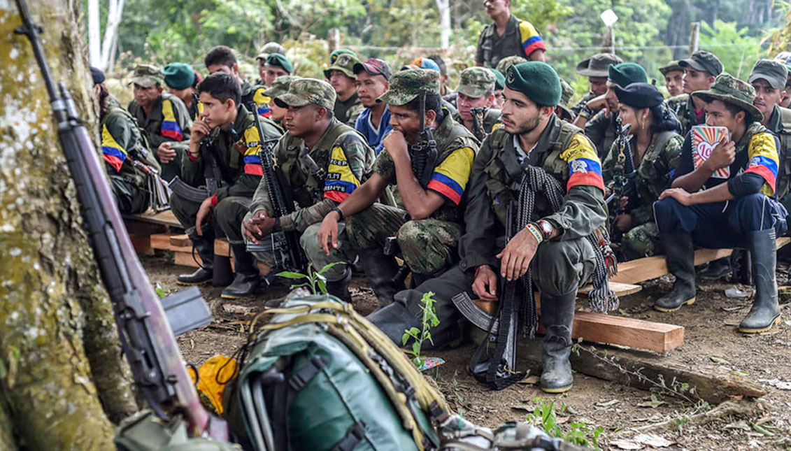 """These are the former """"green"""" FARC guerrillas protecting the jungle 