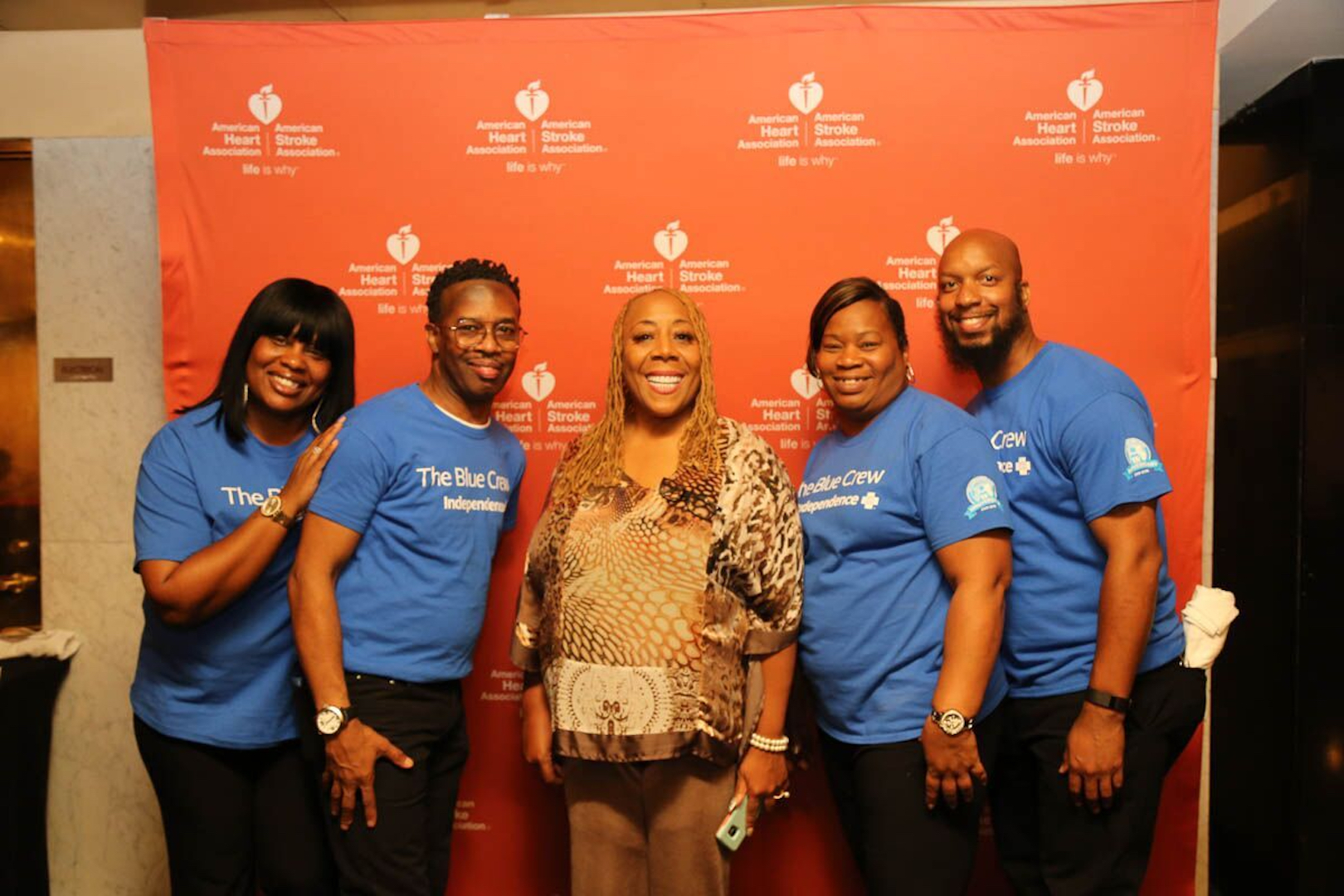 American Heart Association honoree and stroke survivor Patty Jackson, local WDAS radio-host and DJ, photographed with fans. Image provided by Caitlin Conran, Director of Communications and Marketing of the Great River Affiliate.