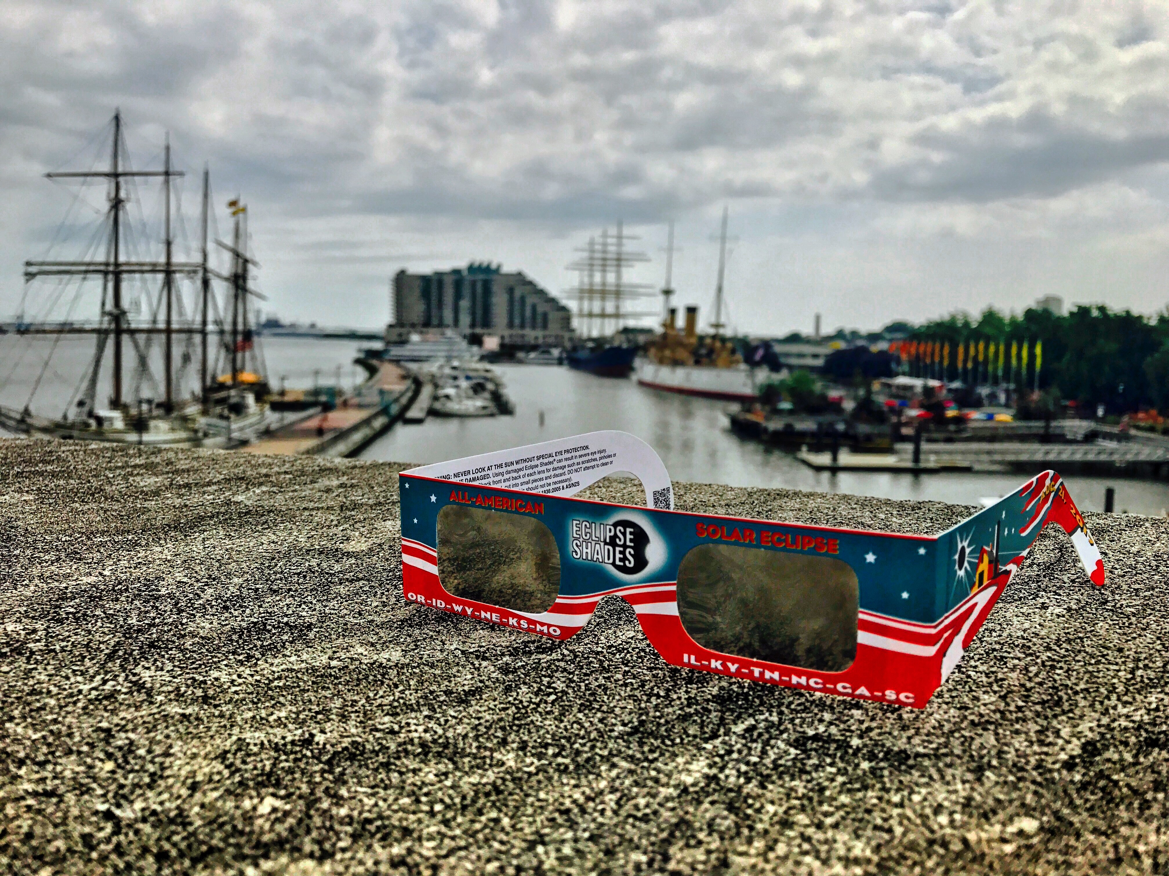Solar Eclipse Shades, courtesy of The Independence Seaport Museum. Photo taken by Mónica Marie Zorrilla/AL DÍA News.