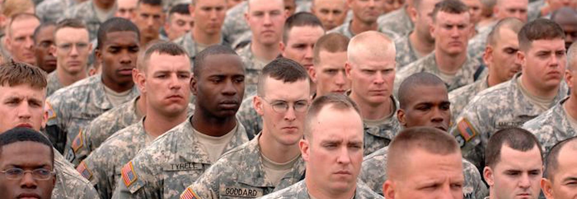 Soldier but not citizen