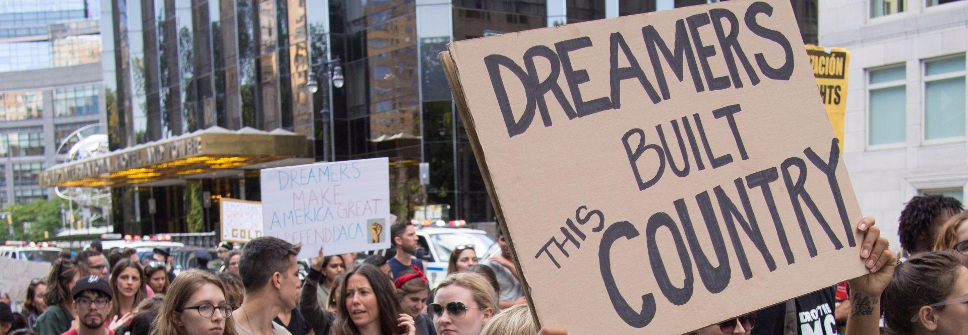 protestas contra la eliminación del DACA en Nueva York, el pasado 9 de septiembre de 2017. Foto: Wikimedia