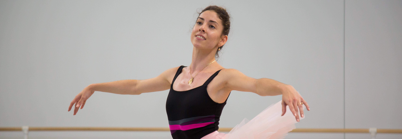 "Dayesi Torriente rehearsing for ""Sleeping Beauty"" at Pennsylvania Ballet. Photo taken by Samantha Laub for AL DÍA News."