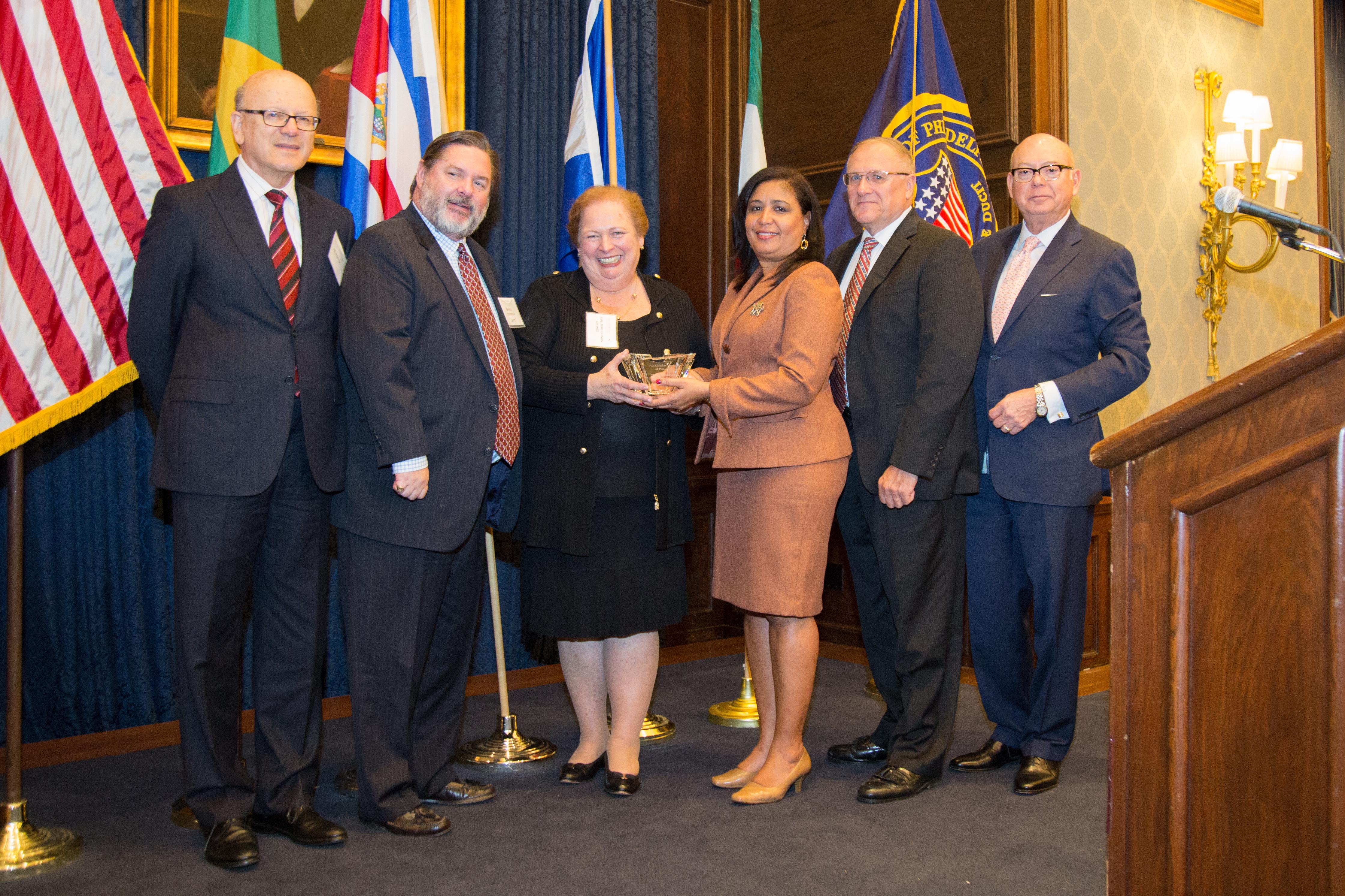 Former Ambassador Mari Carmen Aponte received the William J. Clothier II Memorial Award