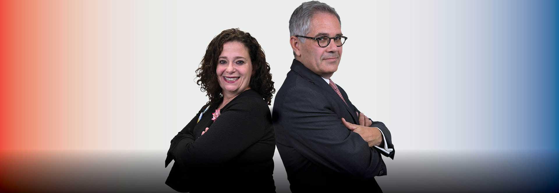 Beth Grossman (Republican)y Larry Krasner (Democrat) are the two candidates for Philadelphia District Attorney. Samantha Laub / AL DÍA News