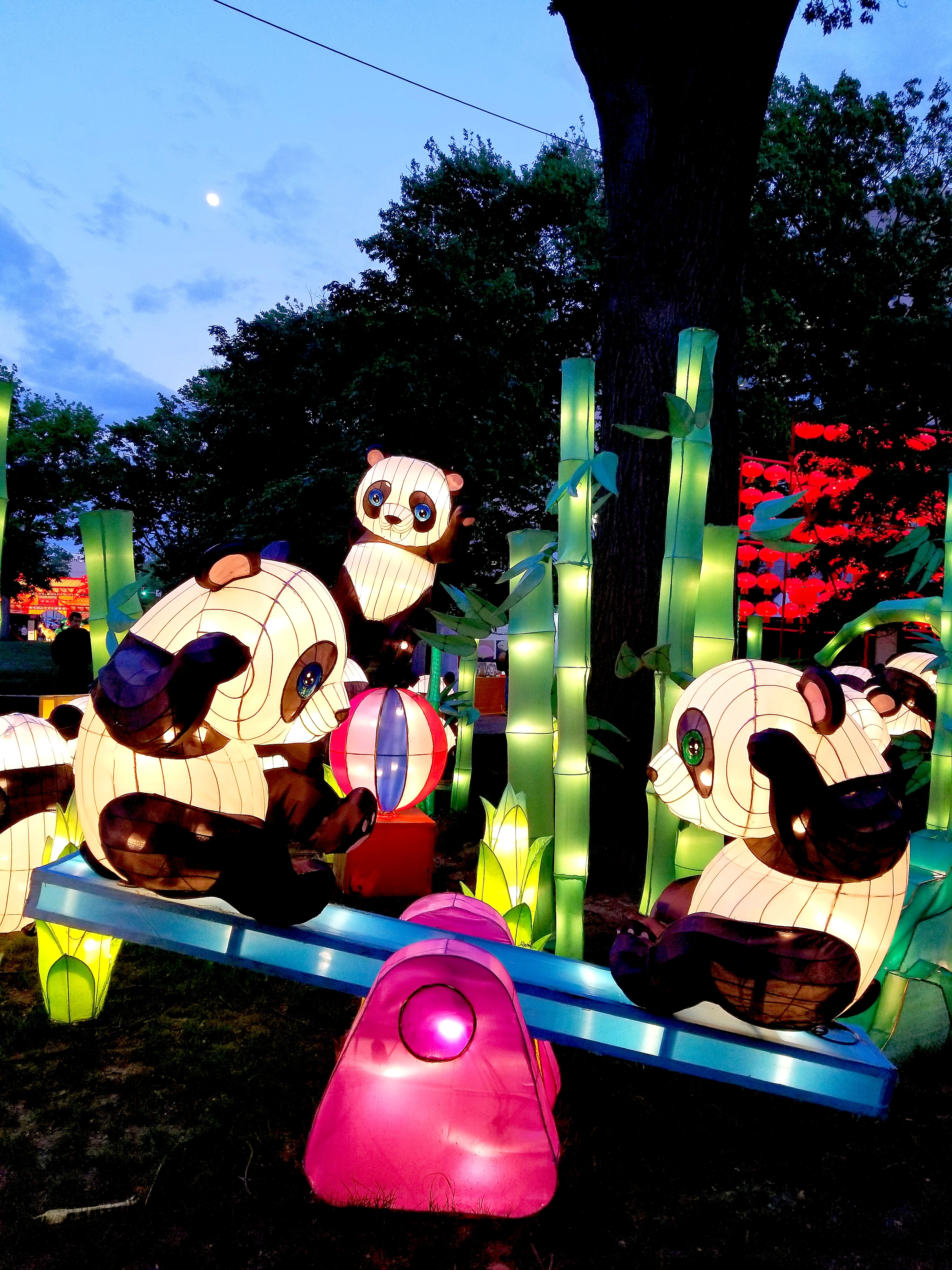 Opening Night For The Chinese Lantern Festival In Franklin Square