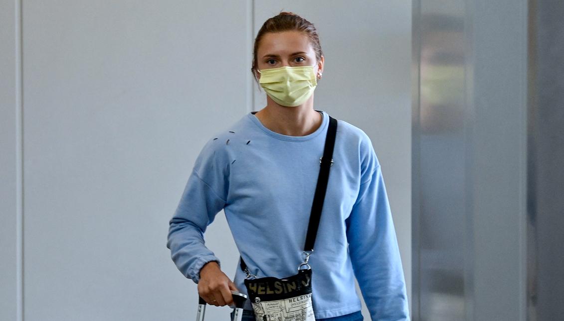 La atleta bielorrusa Krystina Timanovskaya pidió protección para no volver a su país. Foto: Getty Images