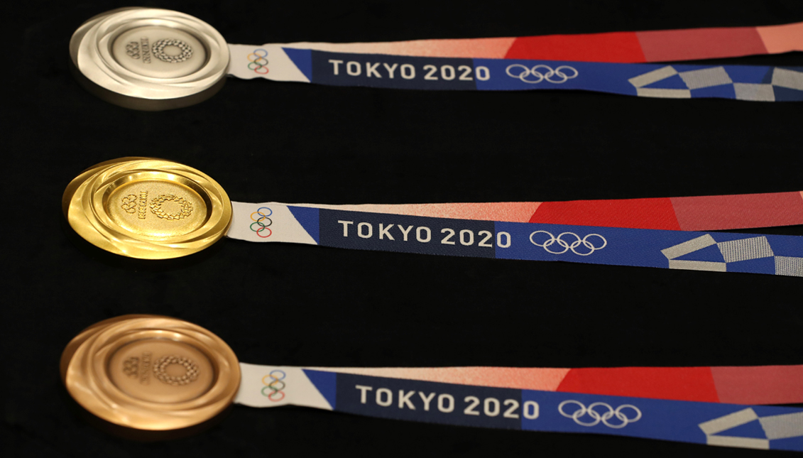 Tokyo medals are made with electronic waste. Getty Images