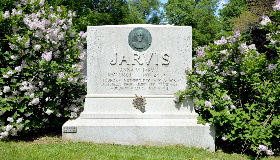 Anne Marie Jarvis, Ann Reeves Jarvis, Mother's Day, West Laurel Hill Cemetery,