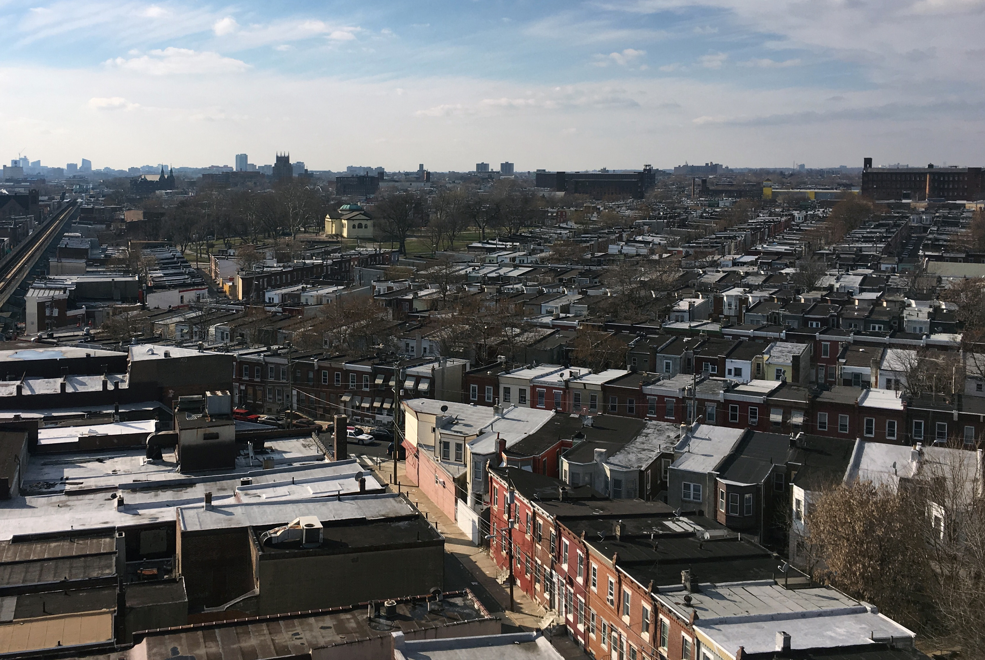 Looking south on the area of Kensington bordered by Allegheny Ave. in the north, Lehigh Ave. to the south, Kensington Ave. to the east, and Front St. to the west. A note on the place names: To quote a Philadelphia neighborhood guide manual from 1975