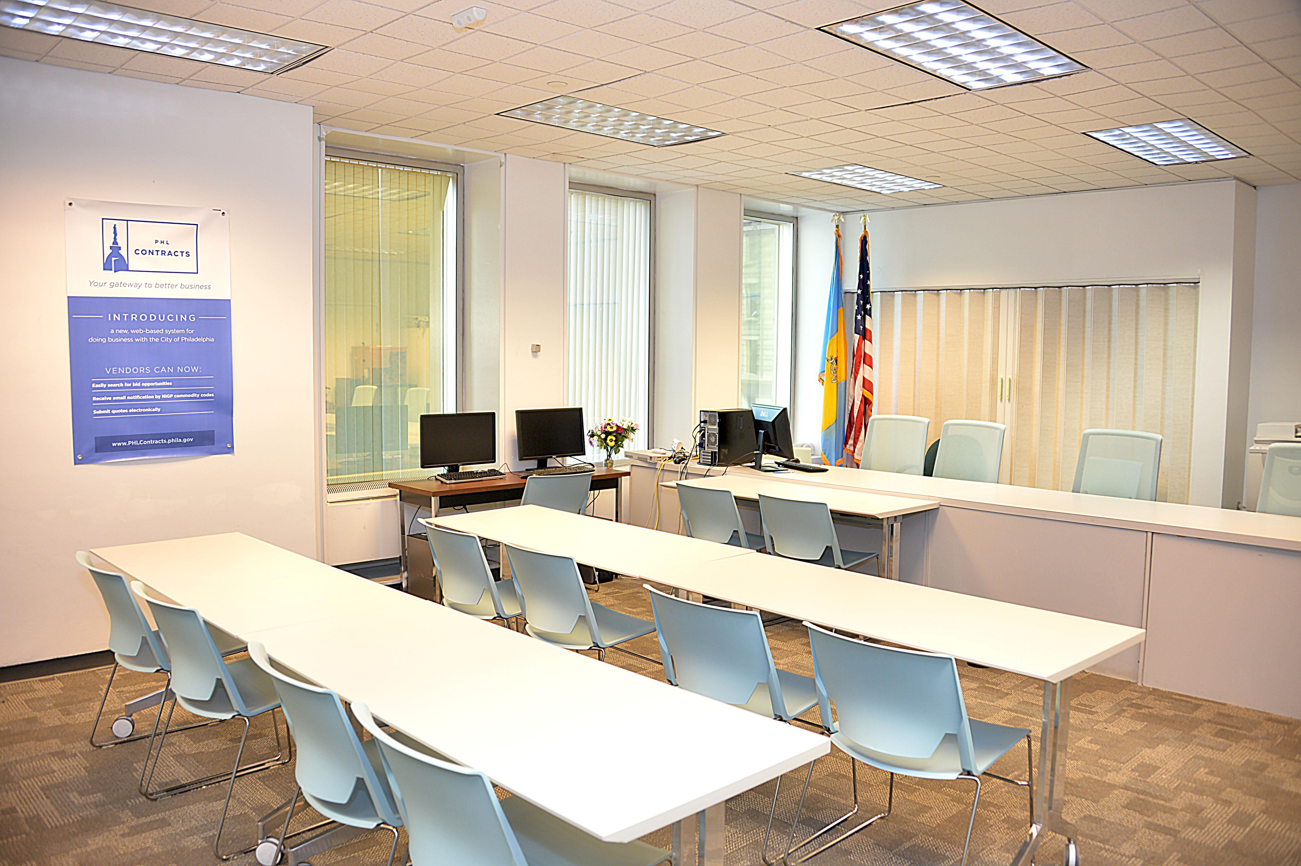 The Bidding room within the City of Philadelphia's Procurement Department. Photo: Peter Fitzpatrick/AL DIA News