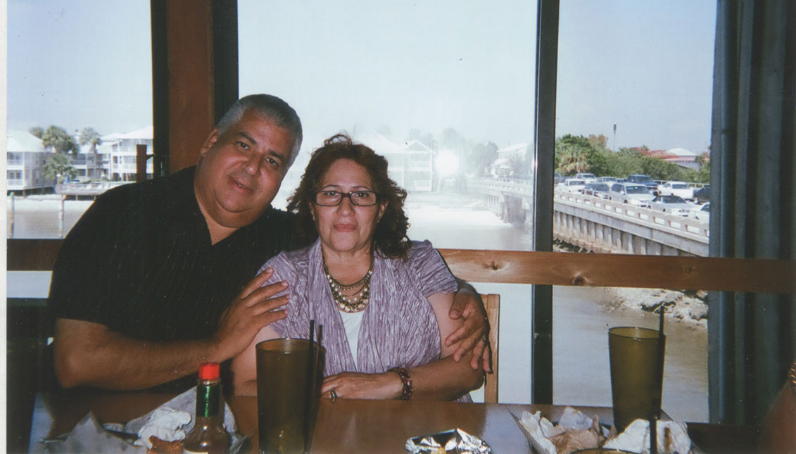 Myrtha y Felipe Castro se casaron en 1975.