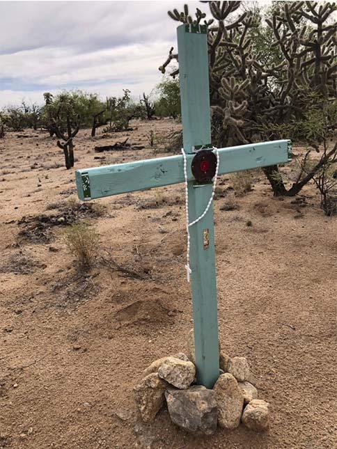 Las cruces son marcas en el mapa.
