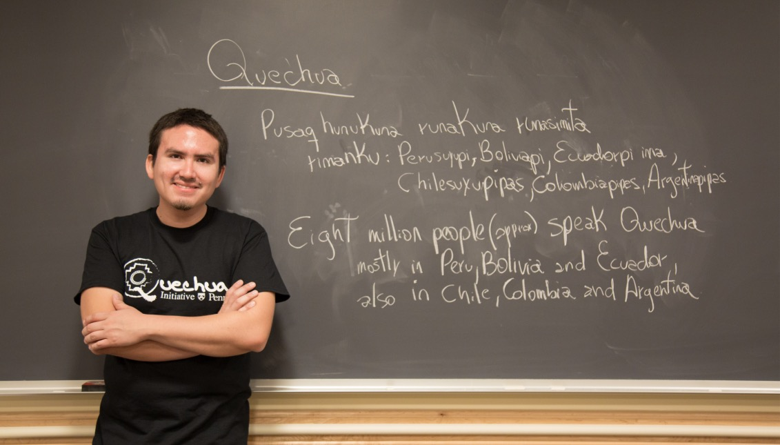 Américo Mendoza-Mori is the man behind the Quechua Language Program and Andean Culture of UPenn. Samantha Laub / AL DÍA News