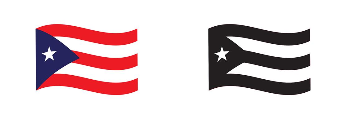 De la bandera de inspiración estadounidense a la bandera de la resistencia boricua.