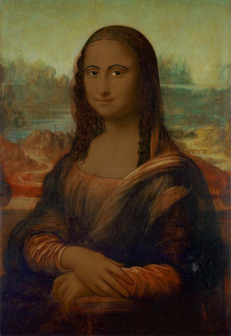 "Mona Lisa ""brown"", obra de Linda Vallejo."
