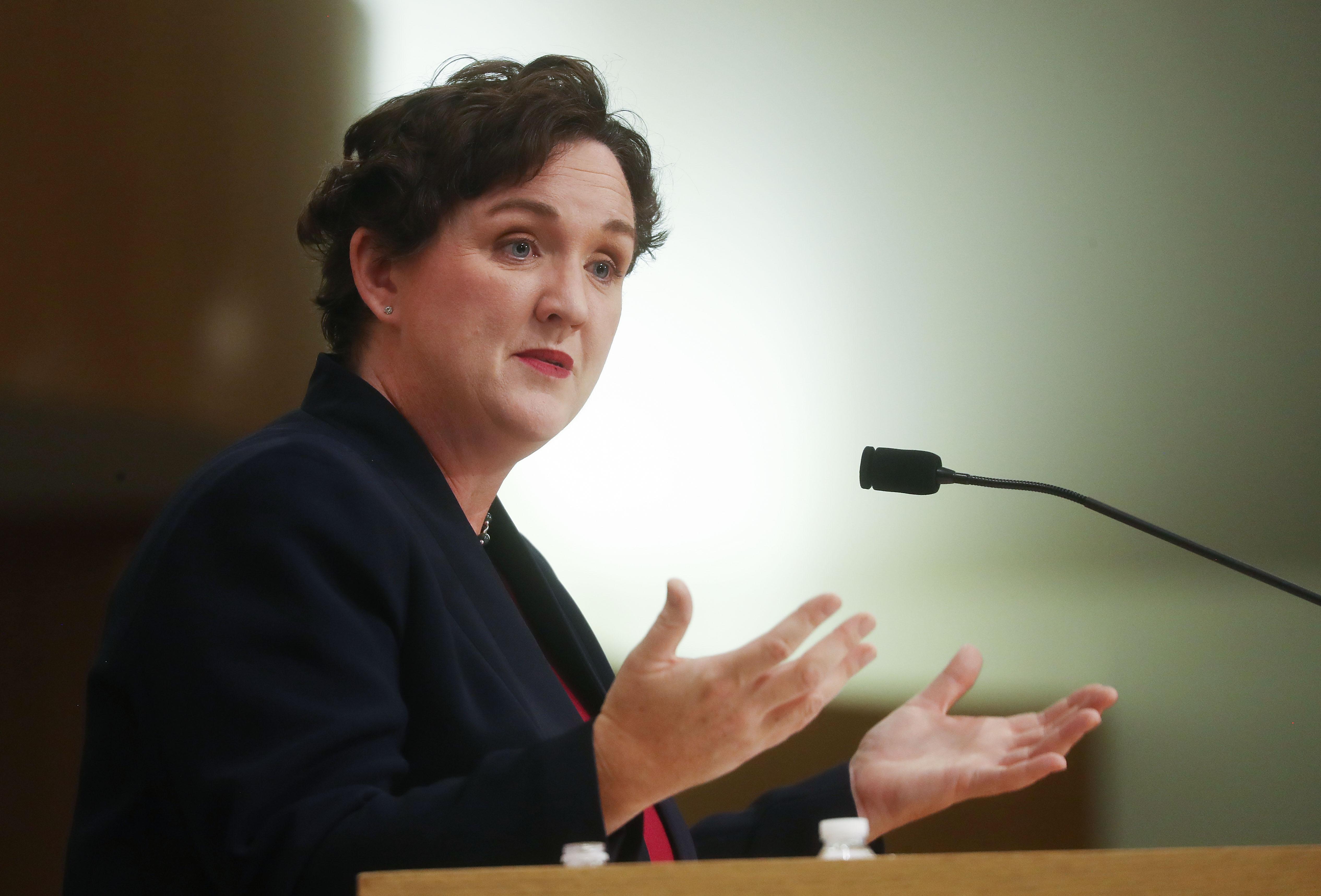 Los politicos del año 2019: Katie Porter. Photo: Getty Images