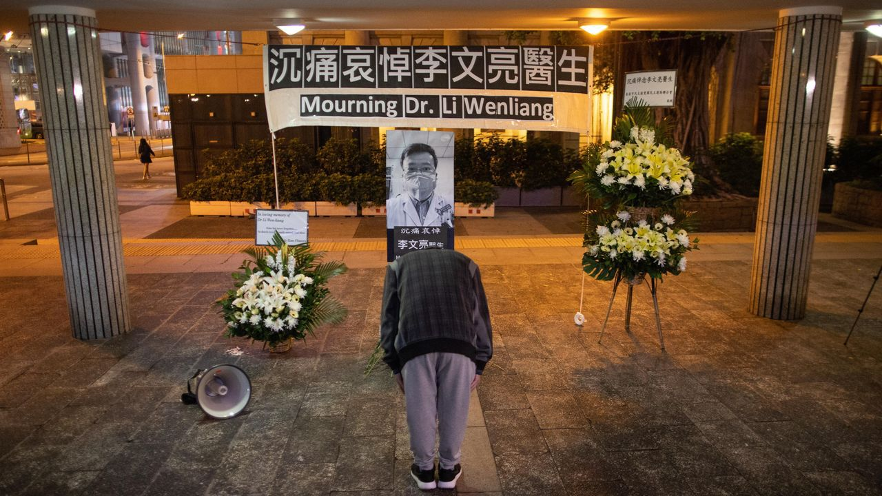 Homenaje al doctor Li Wenliang en Hong Kong – JEROME FAVRE EFE