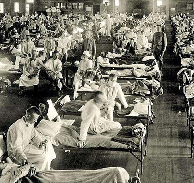 """La """"gripe española"""" o influenza infectó a un tercio de la población mundial y se cobró entre 50 y 100 millones de muertes en 18 meses. Vía La Razón."""
