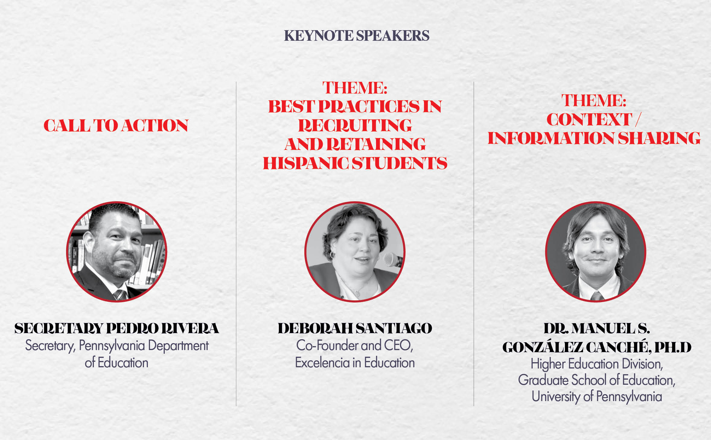 2019 Higher Education Summit Keynote Speakers