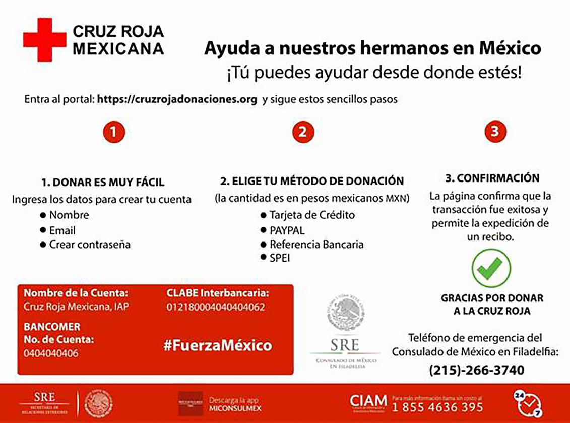 Donaciones Cruz Roja Mexicana