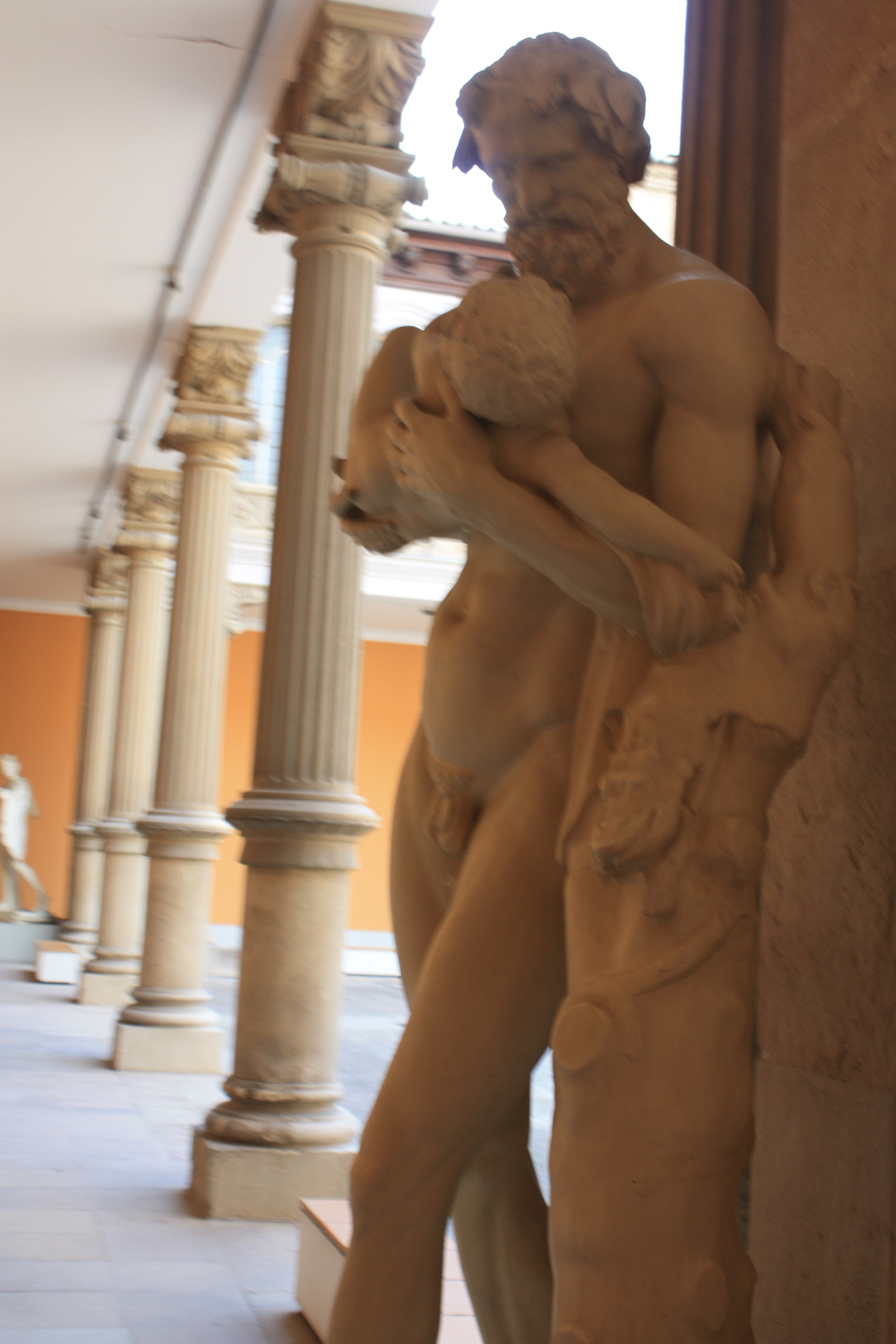 "Statues of ancient Rome are everywhere in the ""Museo de Zaragoza"""