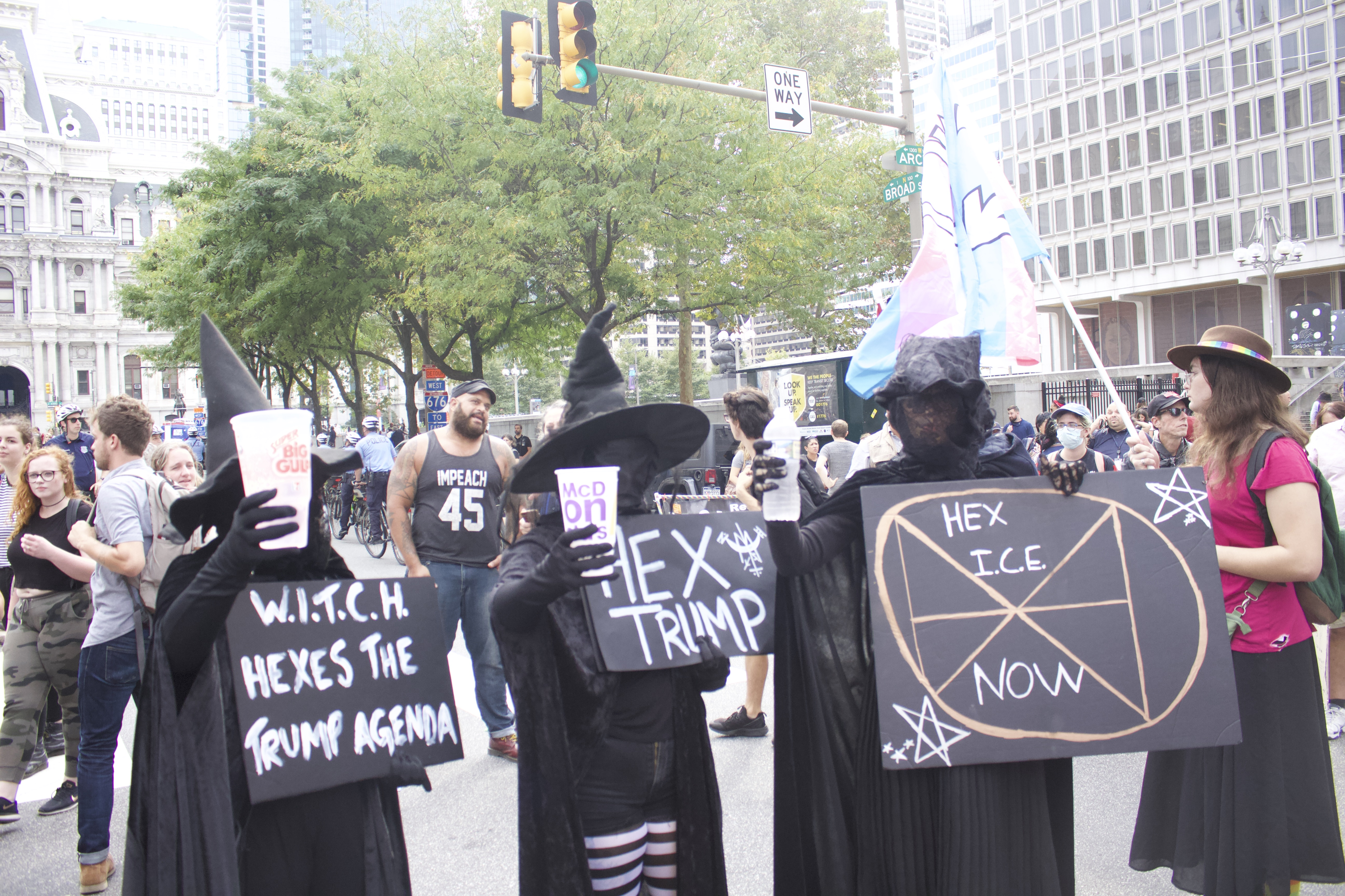 Some witches made it out for the protests