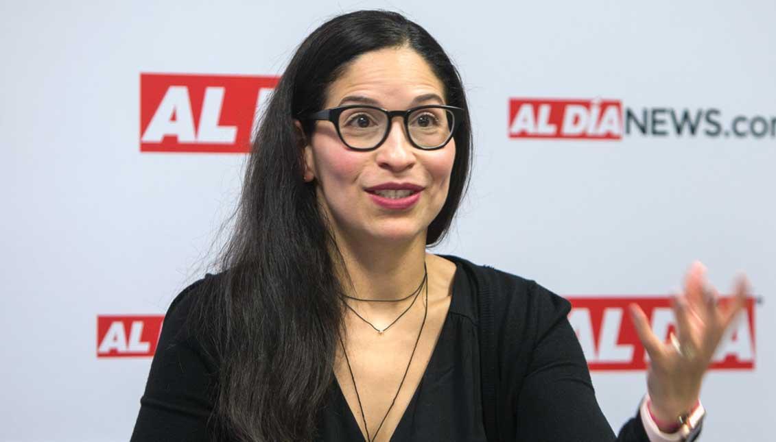 Irene Contreras, International Professional Program graduate from The Welcoming Center for New Pennsylvanians. Photo: Sam Laub / AL DÍA News