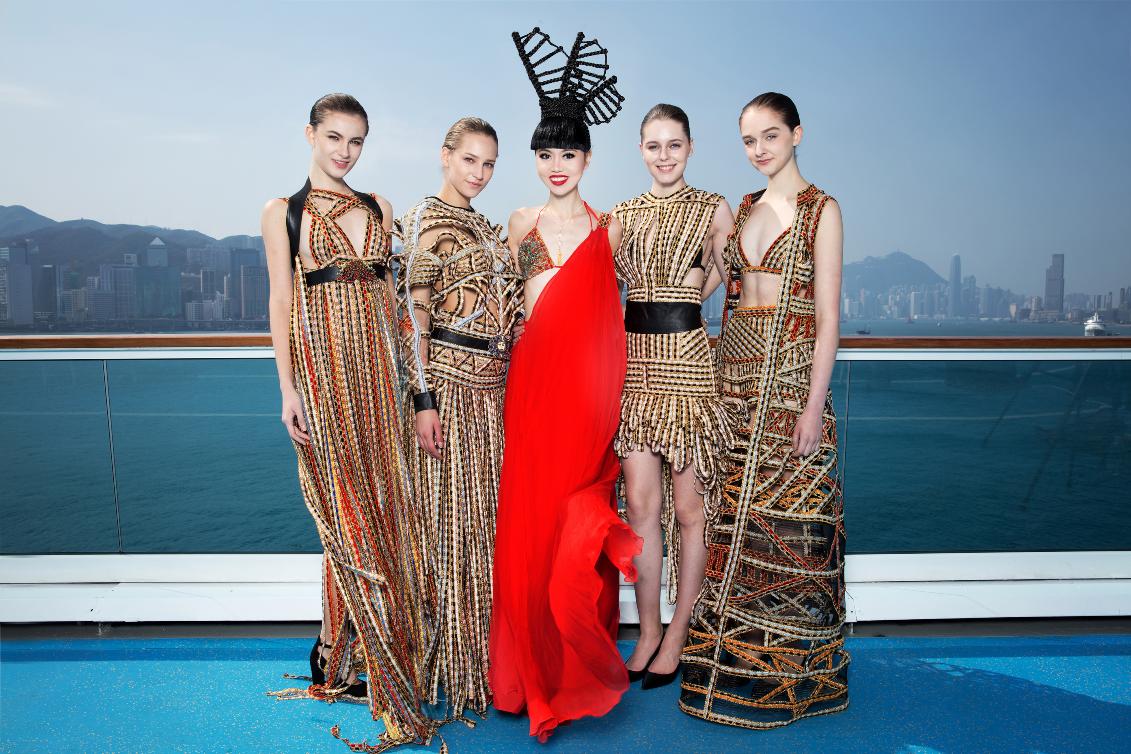 Jessica Minh Anh wears Ani Alvarez Calderon in Hong Kong