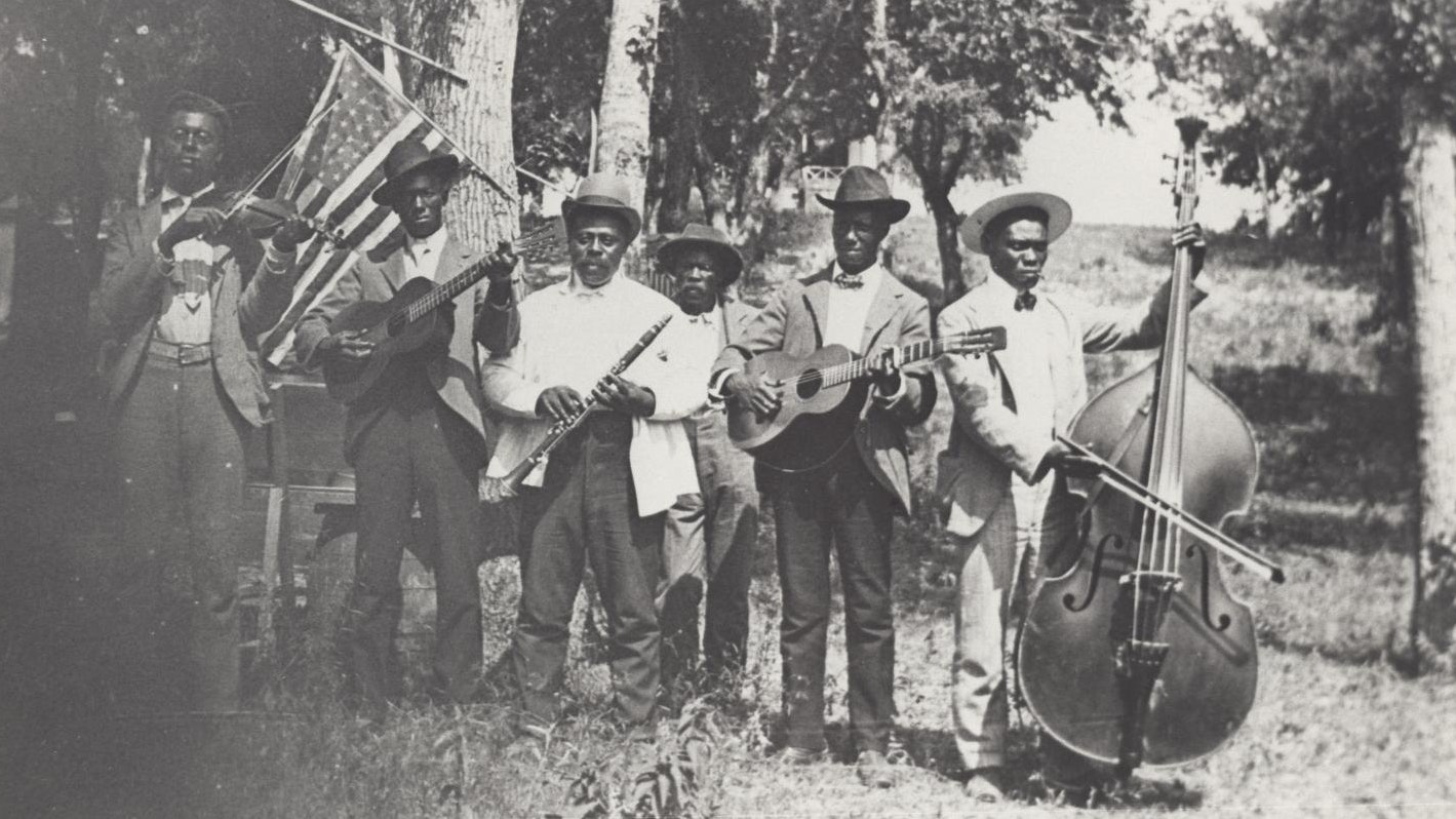 Emancipation Day Celebration band, June 19, 1900Stephenson, Mrs. Charles (Grace Murray) / Austin History Center, Austin Public Library