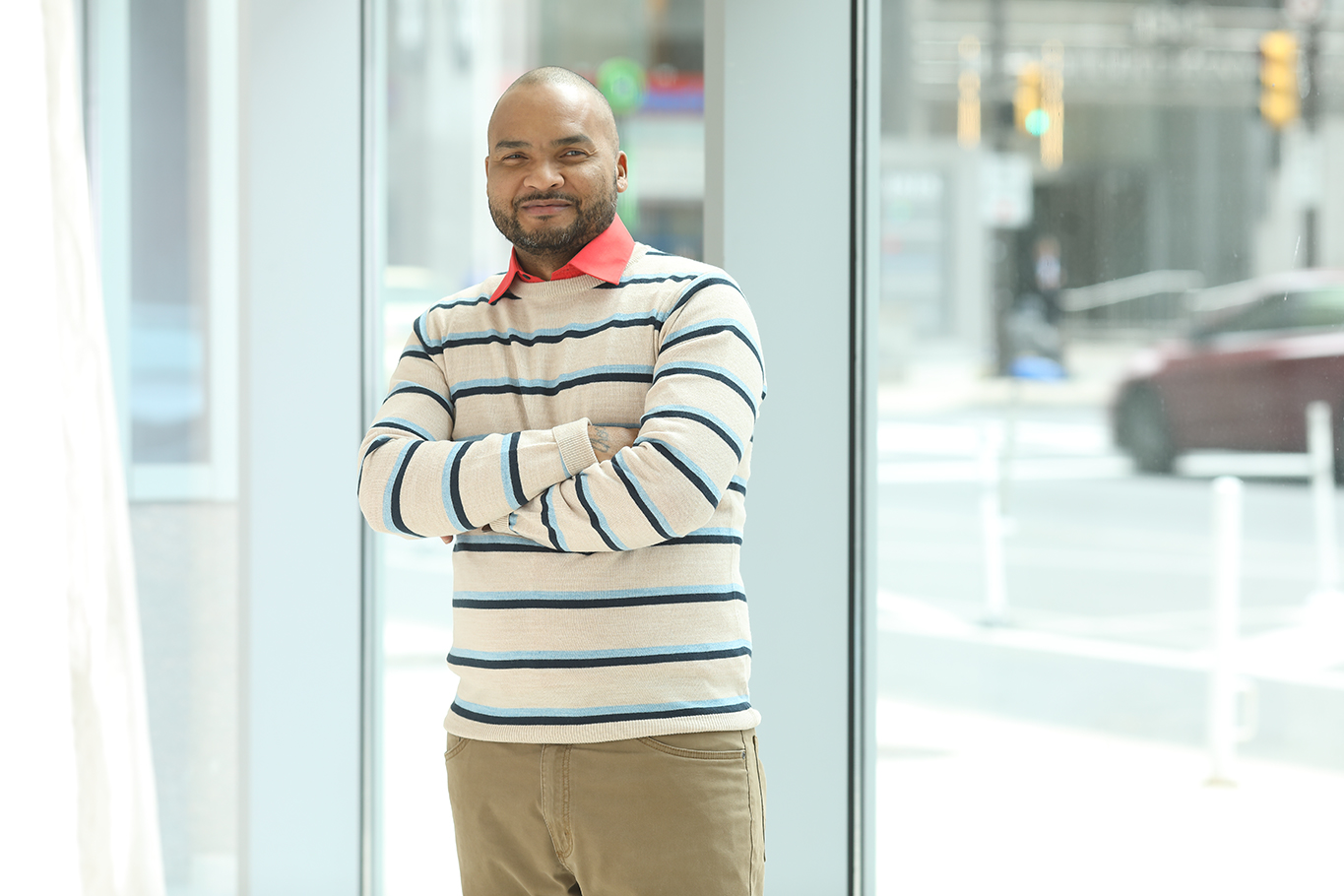 Luis Soto works as a peer recovery specialist where he engages with, listens to and supports the community.