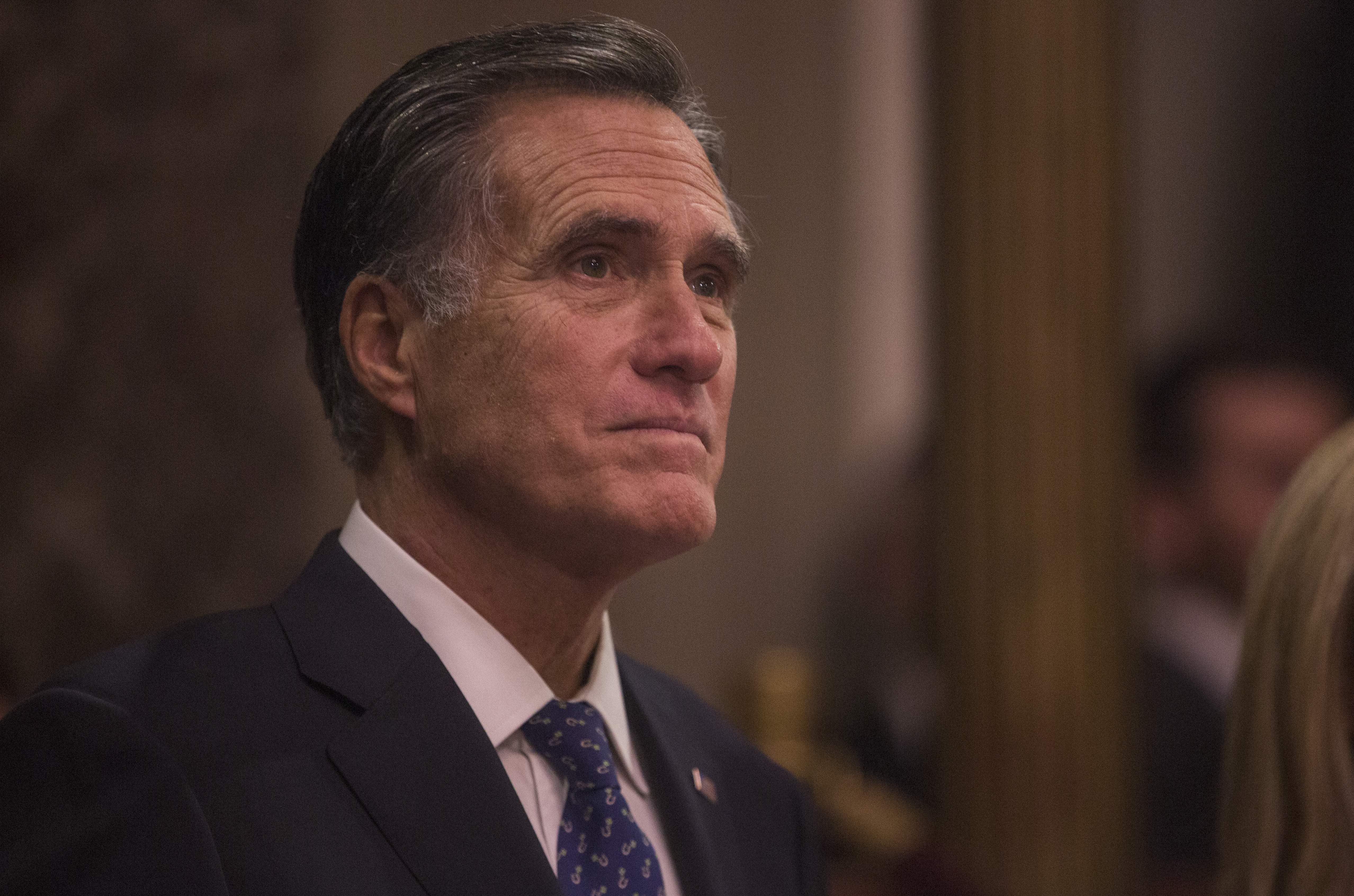 Los politicos del año 2019: Mitt Romney. Photo: Getty Images