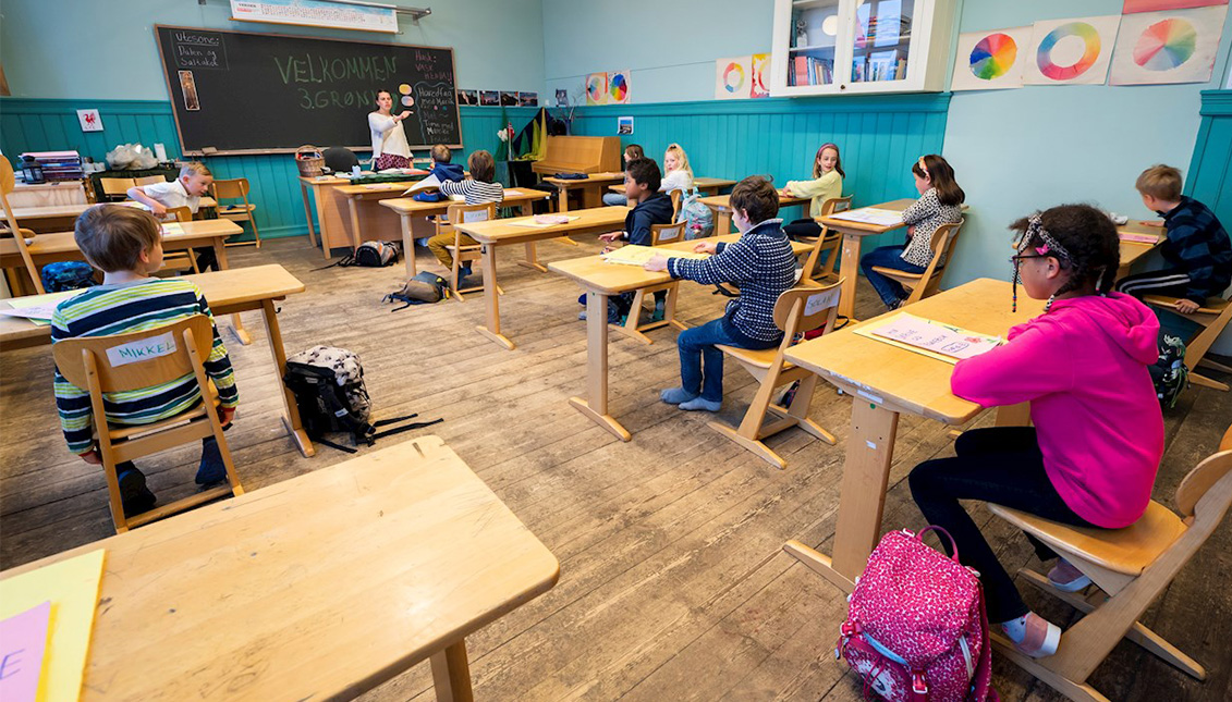 Escuela en Dinamarca. Efe / Heiko Junge
