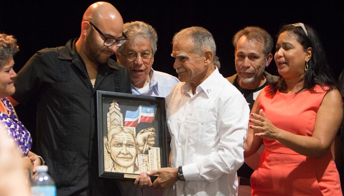Óscar López Rivera, Ángel Ortiz, María Quiñónez-Sánchez. Foto: Edwin López Moya / AL DÍA News