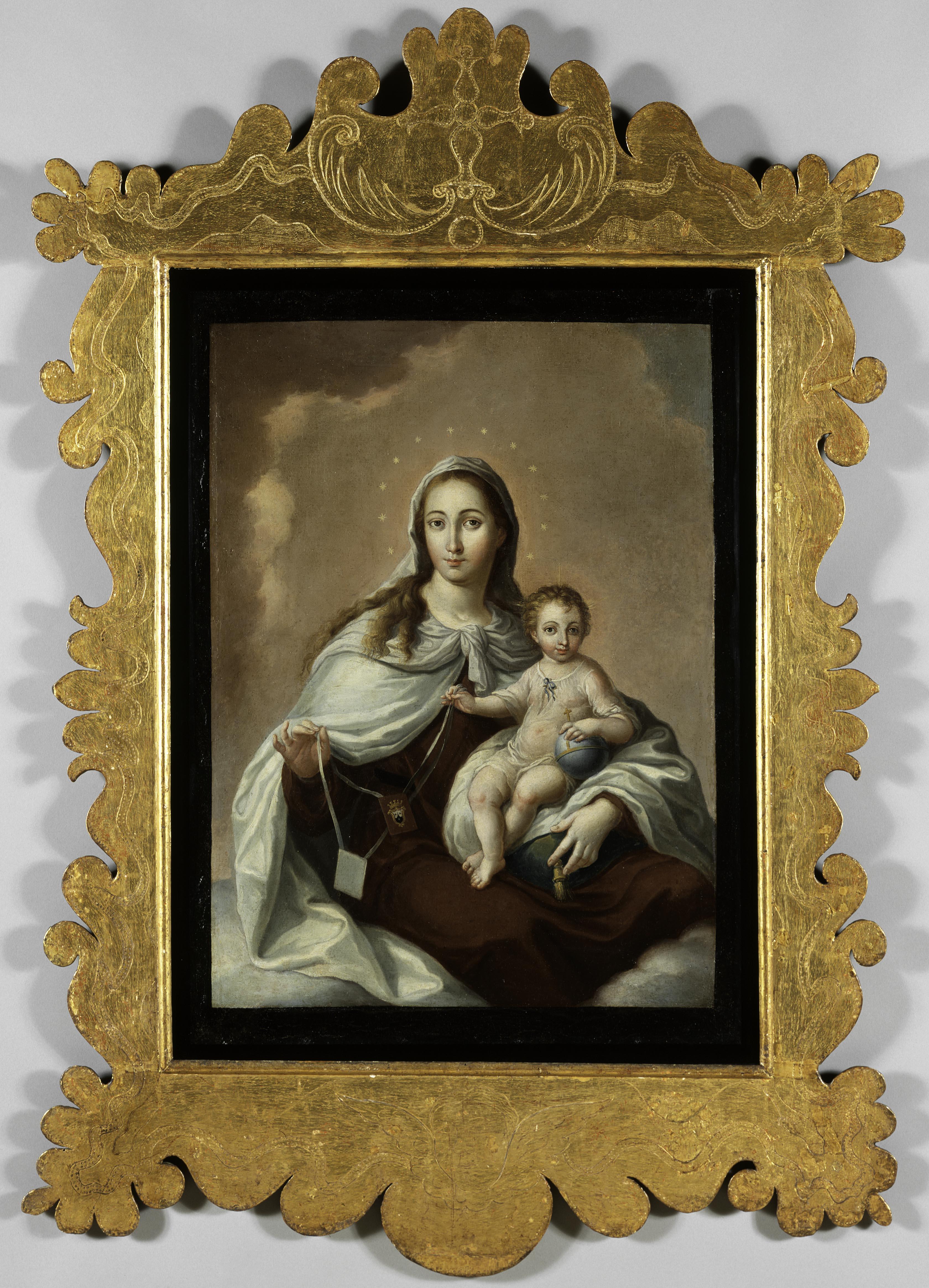 José Campeche (Puerto Rican, 1751–1809), Our Lady of Mount Carmel, 1807, oil on canvas. Courtesy of the Coleccíón Patricia Phelps de Cisneros