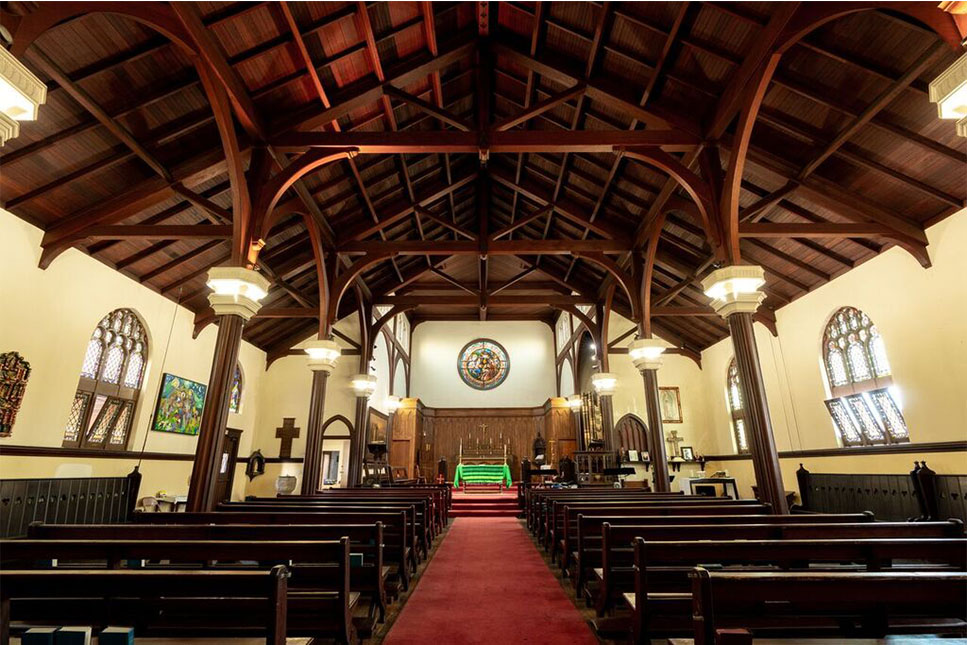The sanctuary of the Church of the Epiphany. PHOTO BY ERIN SULLIVAN.