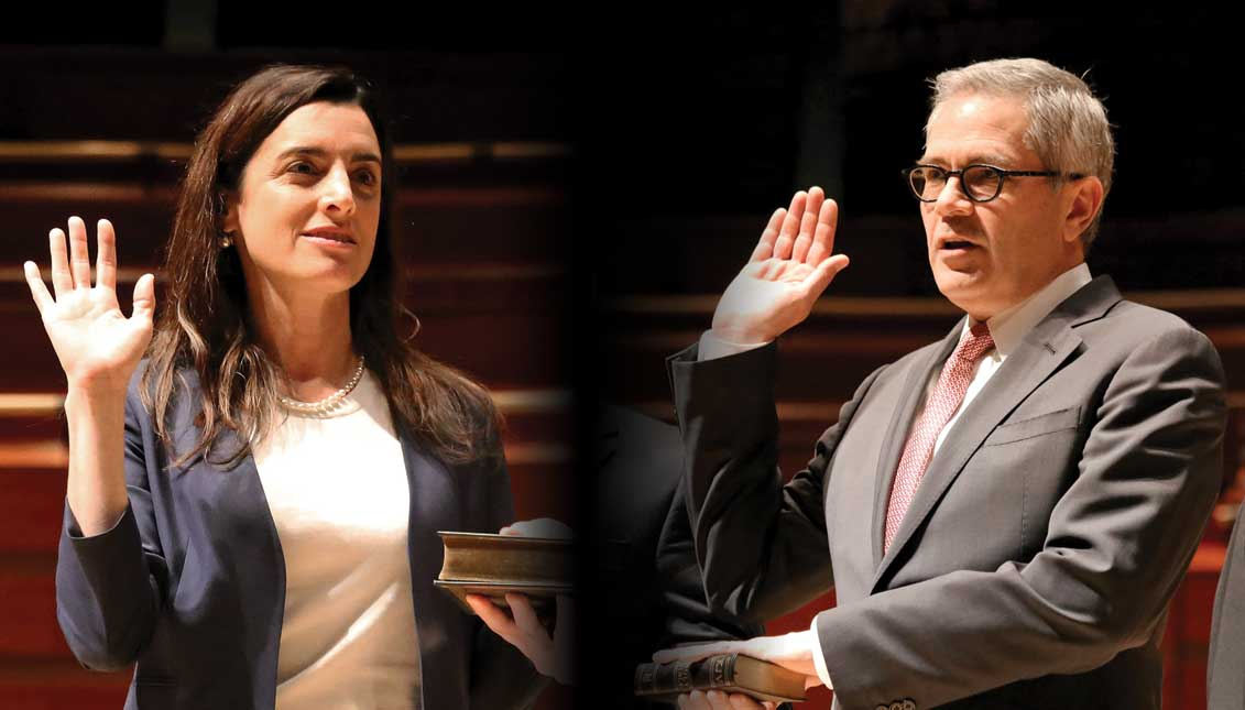 Rebecca Rhynhart, City Controller of Philadelphia, y Larry Krasner, District Attorney. Photos Courtesy: Samantha Madera / City of Philadelphia