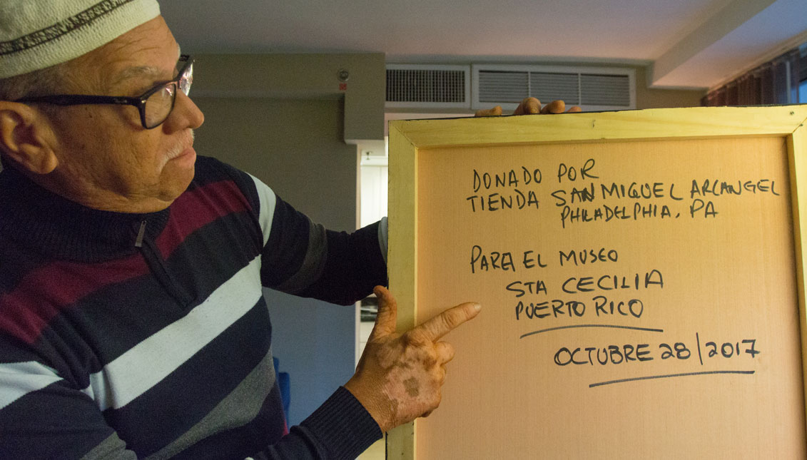 En Filadelfia, Raúl Berríos ya consiguió una donación para su Museo de Santa Cecilia en Puerto Rico. Foto: Edwin López Moya / AL DÍA News