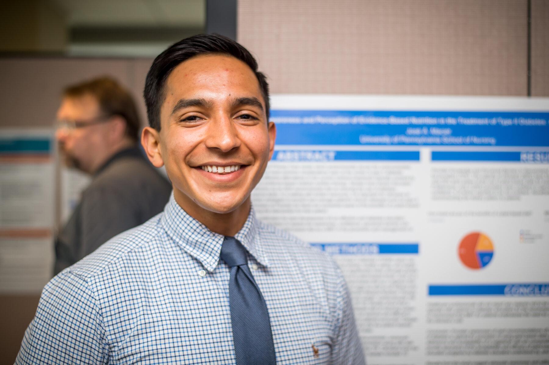 Jose Poster Presentation, Nursing Internship Program Recognition Event, Aug. 3, 2018