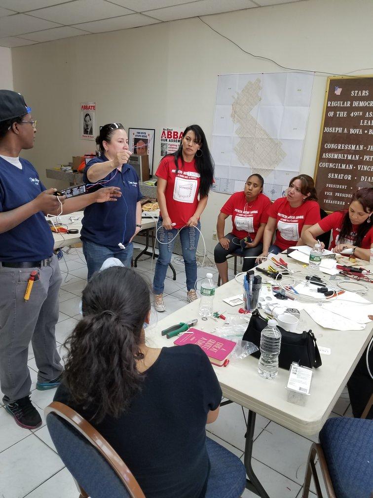 Ana Diaz hosts a seminar at Diaz Electric. Photo Courtesy: Diaz Electric of New York. Inc.