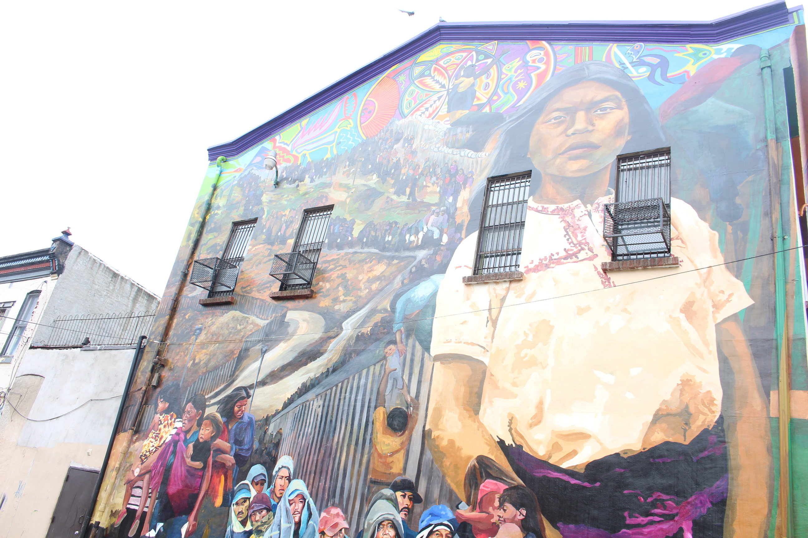 Mural outside of Providence Center. Photo: Jensen Toussaint/AL DÍA News.