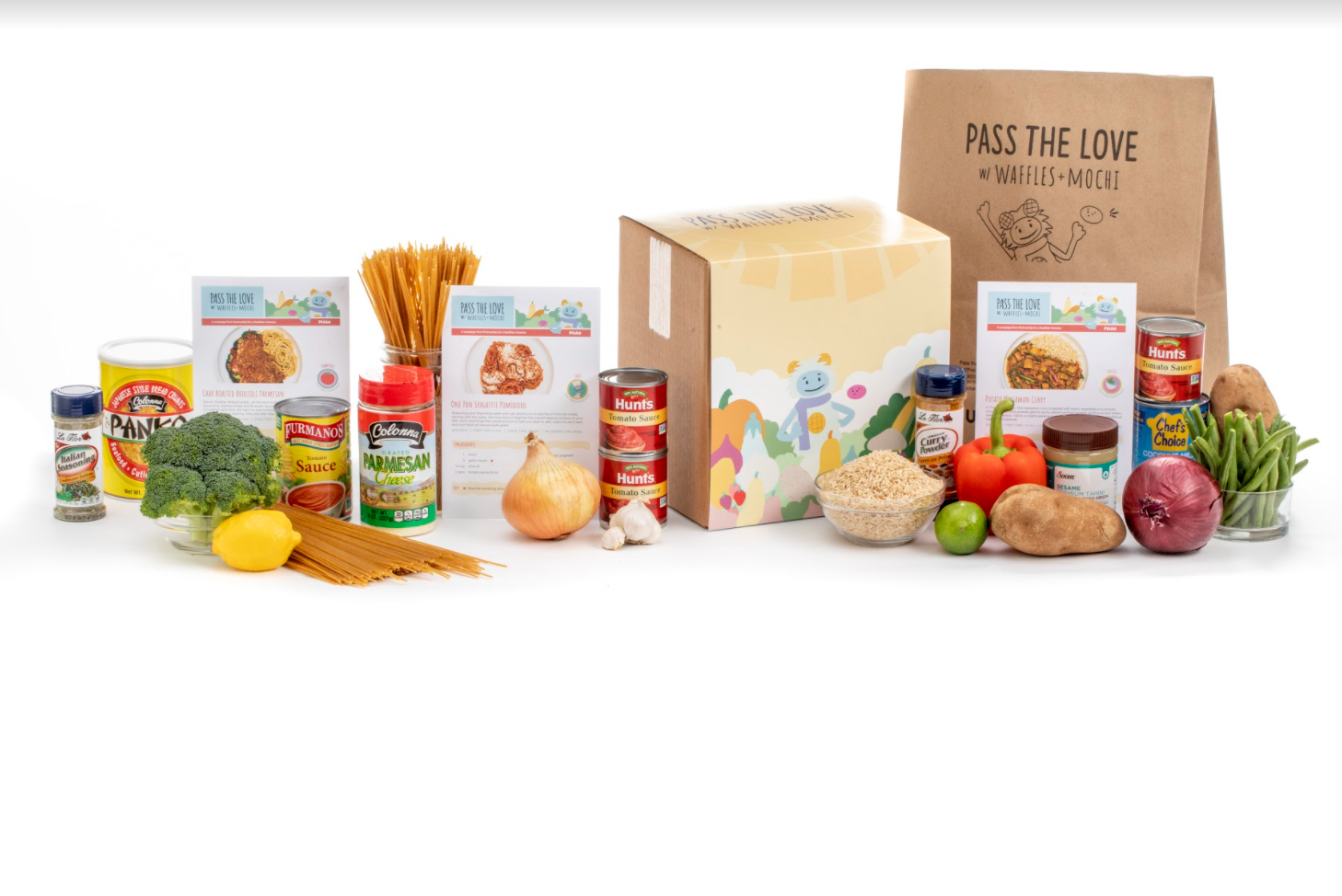 Screenshot of a Pass the Love Meal Kit.