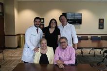 Maria Elena Botero and her family with Dr. Arturo Loaiza-Bonilla. Photo: Nigel Thompson/AL DÍA News.