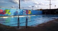 The Bridesburg Recreation Center's pool in the summer of 2015, before its renovation. Photo: Micaela Root/Phillypublicpools.com
