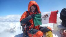 La escaladora mexicana Viridiana Álvarez Chávez acaba de romper el título de los Récords Guinness por haber escalado tres de los picos más altos del mundo, el Everest, el K2 y el Kangchenjunga en poco menos de dos años. Foto: ViridianaÁlvarez/ Cortesía