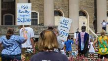 Professors express outrage after college officials dismiss vaccine requirements. Photo:collegian.psu.edu