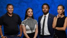 To reach its full potential as a city, Philadelphia must eliminate racism against Latino population. From left to right the featured 40 Under 40 2021 honorees: Noel Ramirez, Natasha Daniela De Lima, Melvin Smith y Maridarlyn Gonzalez. Harrison Brink/AL DÍA News