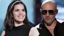 America Ferera and Pitbull are expected to speak at the virtual event. Photo: Getty Images