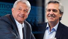 El presidente mexicano Andrés Manuel López Obrador (Izquierda) con el presidente argentino Alberto Fernández (Derecha) - Getty Images