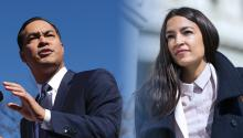 From AOC to Julián Castro. The Latinx leaters featured in the DNC. Photo: Getty Images