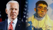 Bad Bunny strengthens his stance against Donald Trump by lending his star power to Joe Biden. Photo: Washington post/Twitter